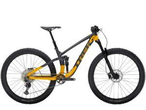 Trek mountainbike i grått och gult hittar du hos Trekstore i Göteborg